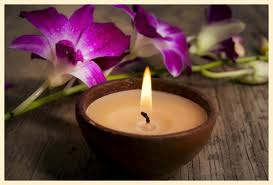 candle during energy healing